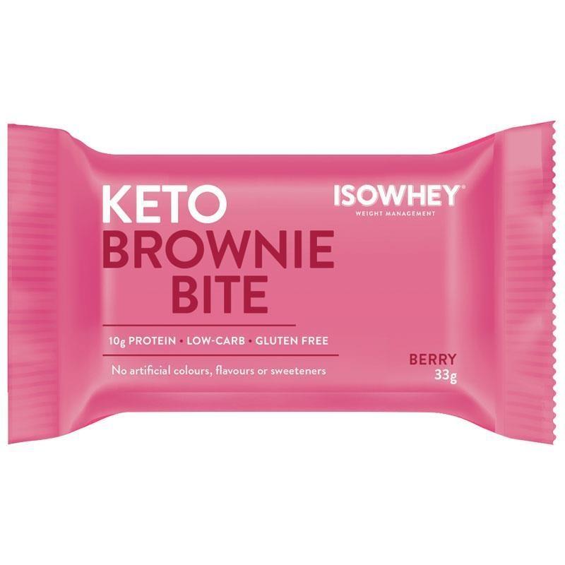 IsoWhey Keto Brownie Bite Berry 33g Single