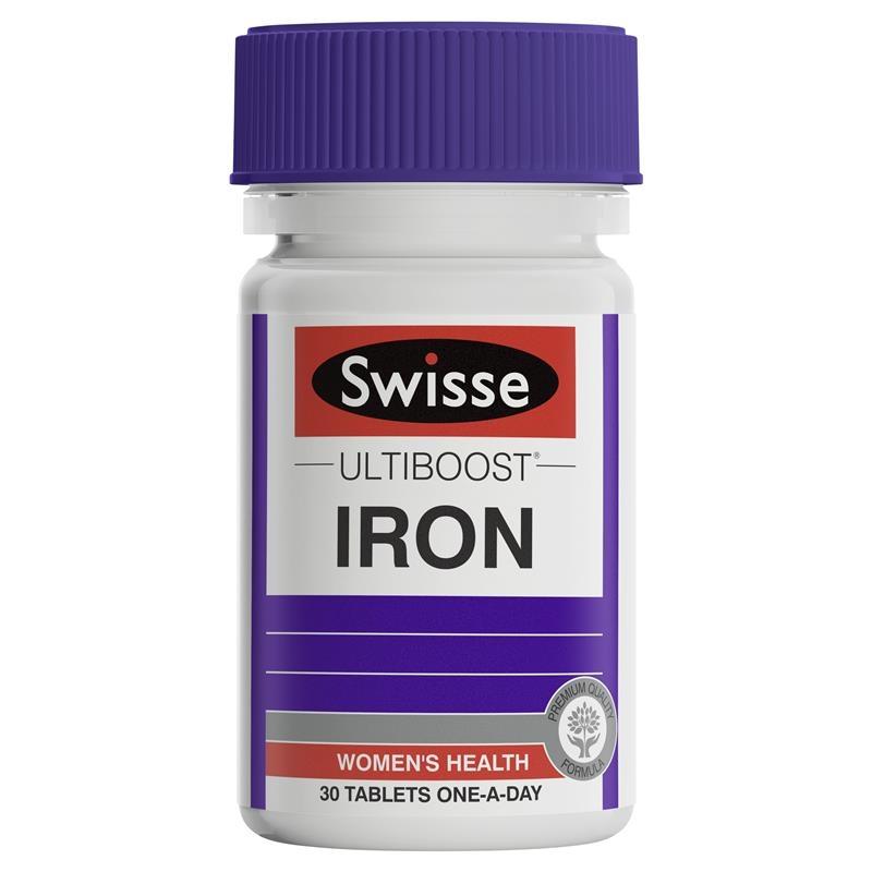 Viên uống bổ sung sắt - Swisse Ultiboost Iron 30 Tablets