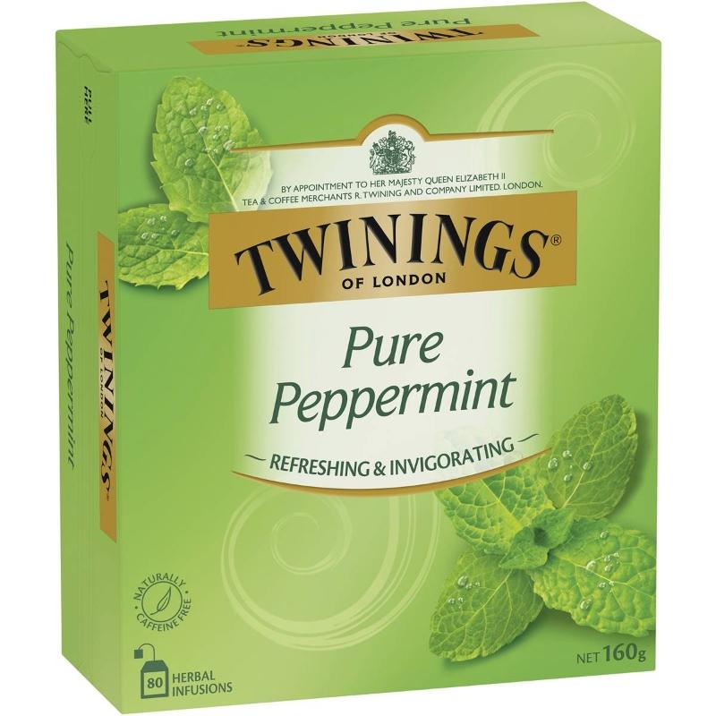 Túi trà bạc hà nguyên chất Twinings 80 gói