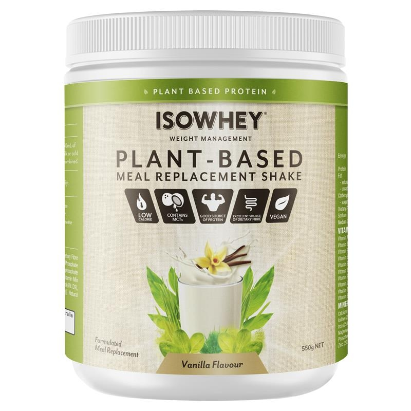 IsoWhey Plant-Based Meal Replacement Shake Vanilla 550g