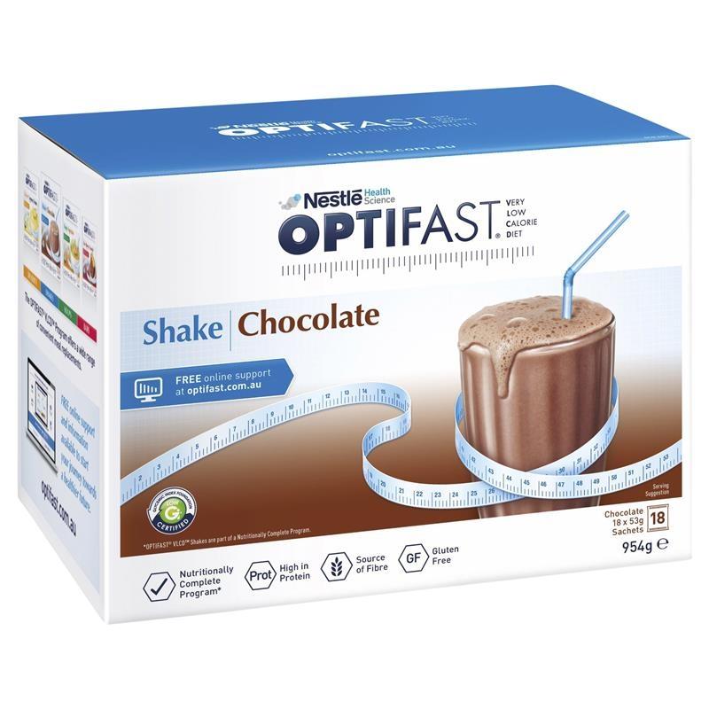 Sô cô la lắc hỗ trợ giảm cân Optifast VLCD Shake Chocolate 18 x 53g