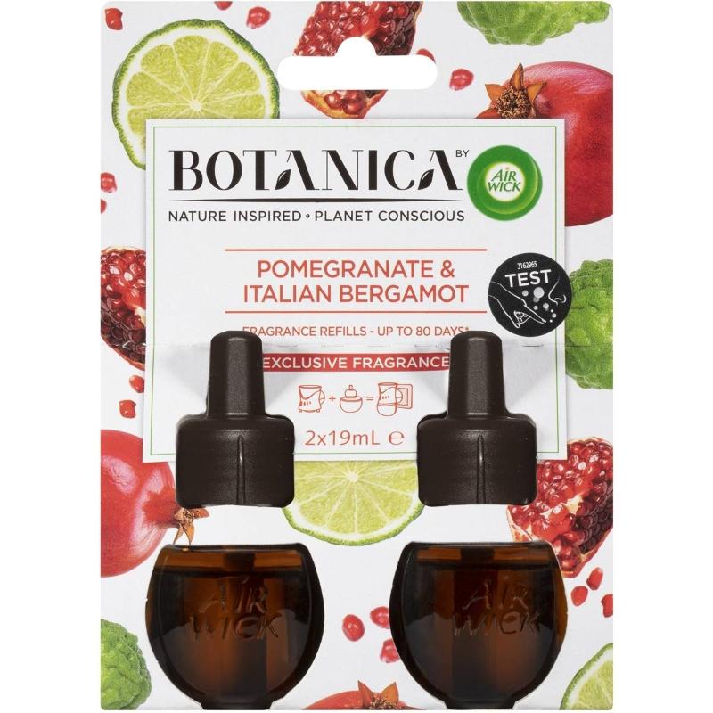 Air Wick Botanica Diffuser Refills Pomegranate Italian Bergamot 2 pack