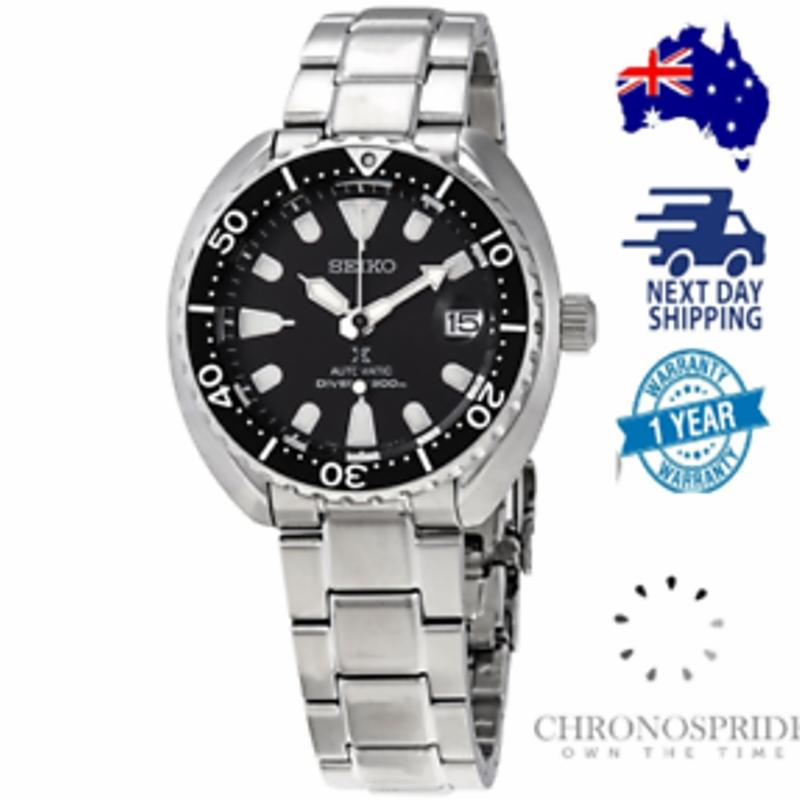 Seiko Prospex SRPC35 SRPC35K1 Automatic Mini Turtle Black Stainless Steel Watch