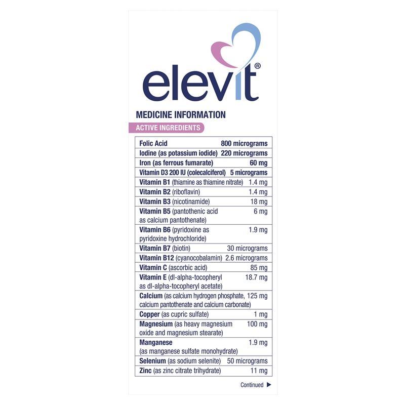 Viên uống tổng hợp - Elevit Pregnancy Multivitamin Tablets 100 Pack (100 Days)