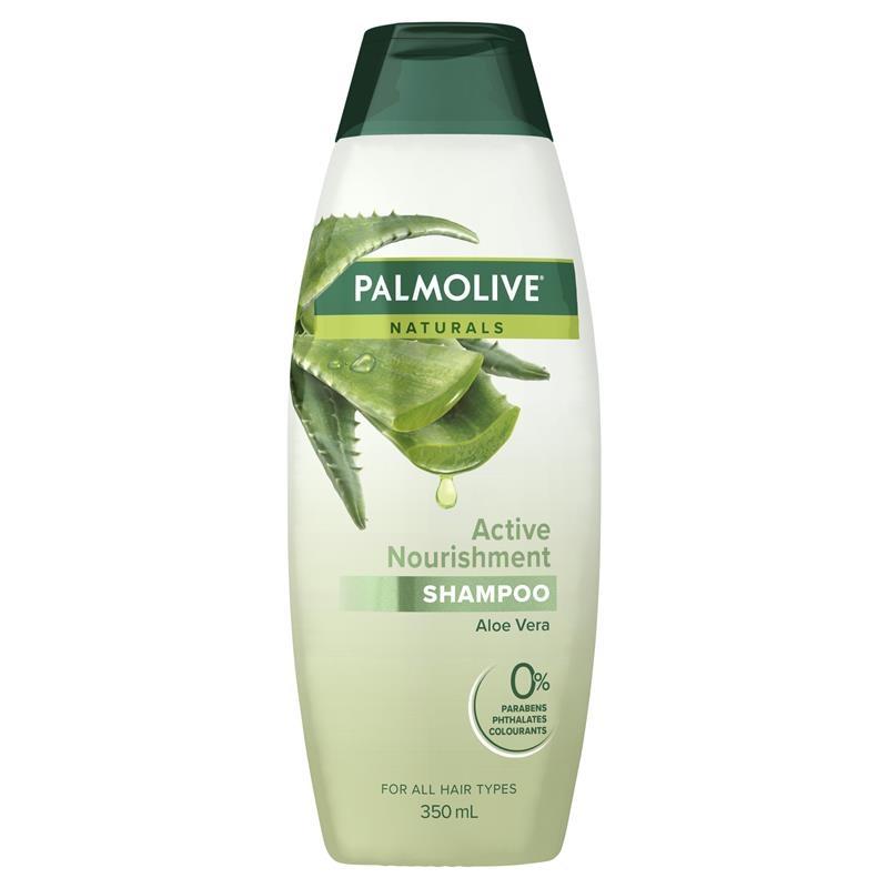 Dầu gội dành cho tóc thường Palmolive Naturals Active Nourishment Normal Hair Shampoo Aloe Vera & Fruit Vitamins 350mL