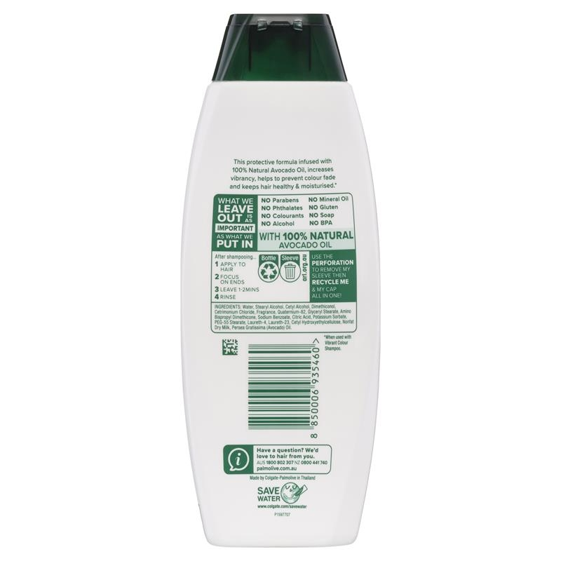 Dầu xả cho tóc nhuộm Palmolive Naturals Vibrant Colour Treated Hair Conditioner Pomegranate & Avocado 350mL