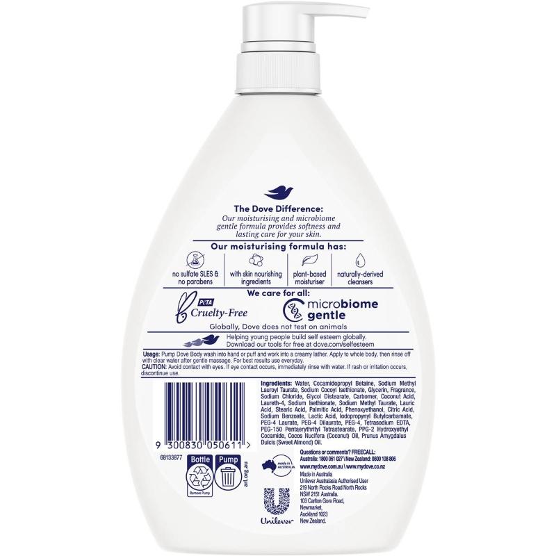 Sữa tắm Dove Body Wash Restoring Coconut & Almond Oils 1l