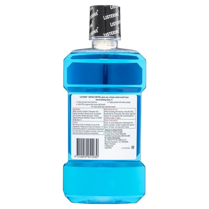 Listerine Tartar Control Mouthwash 1Litre