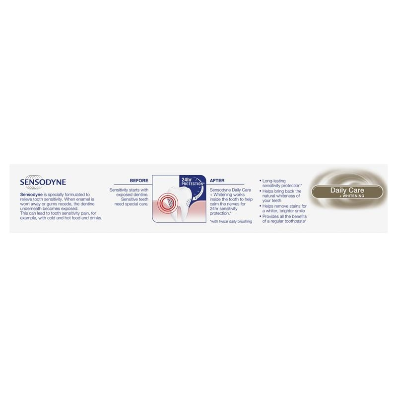 Sensodyne Toothpaste Daily Care + Whitening 160g Exclusive Size