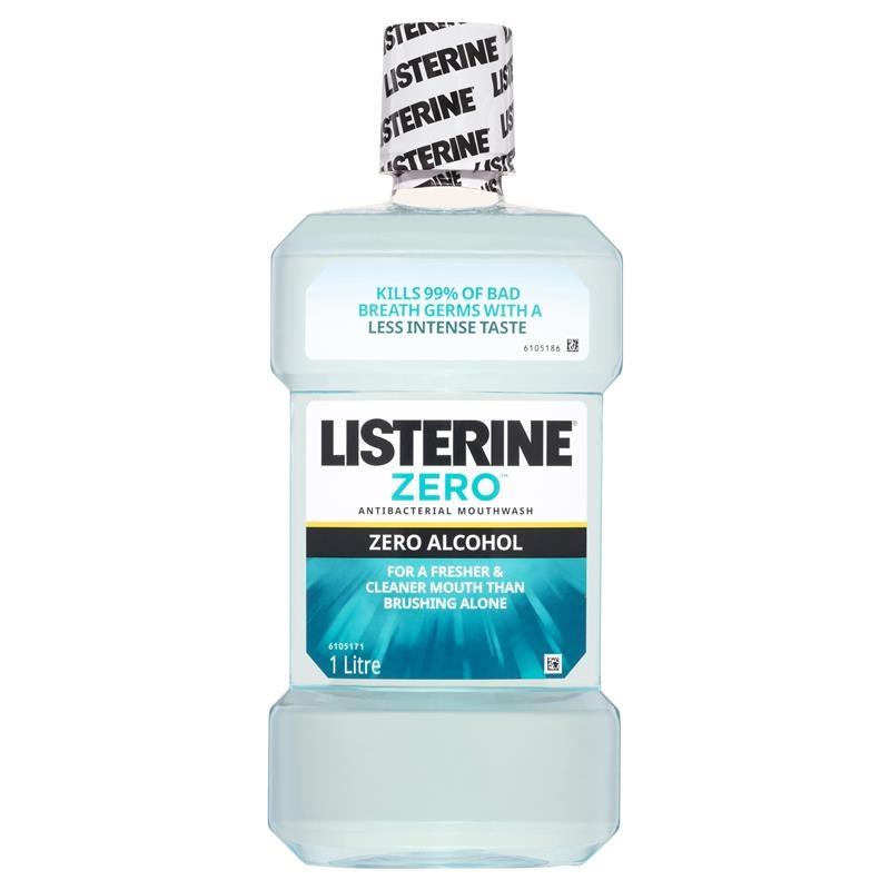 Listerine Mouthwash Zero 1 Litre