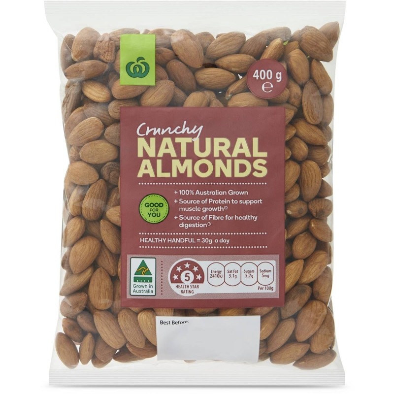Woolworths Crunchy Natural Almonds 400g