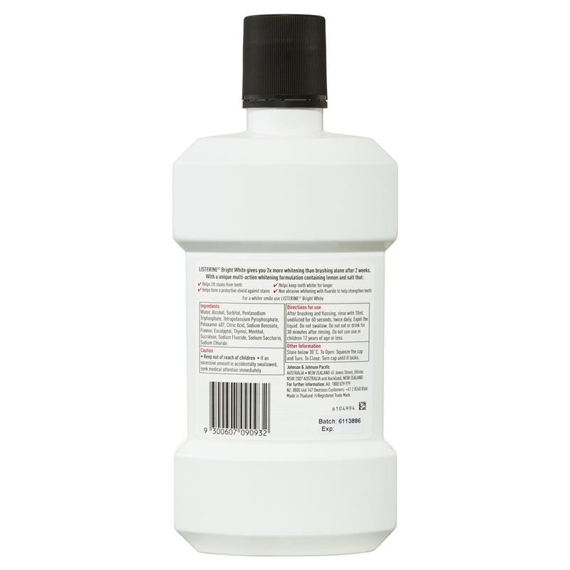 Listerine Bright White Mouthwash 1 Litre