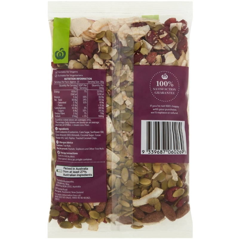 Woolworths Cacao Almond Mix 400g