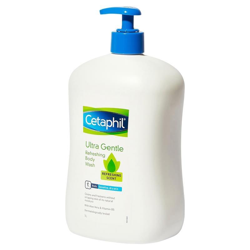 Cetaphil Ultra Gentle Refreshing Body Wash 1L