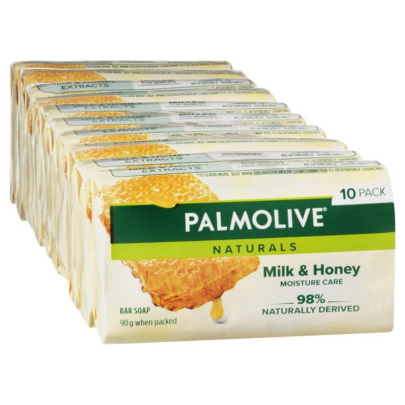 Xà phòng tắm Palmolive Naturals Replenishing Bar Soap Milk & Honey 10 x 90g