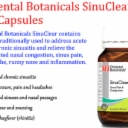 ORIENTAL BOTANICALS SinuClear 60 vege Capsules ( Sinus pain & congestion )