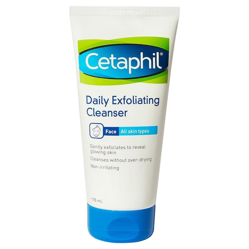 Sữa rửa mặt & tẩy tế bào chết - Cetaphil Daily Exfoliating Cleanser 178ml