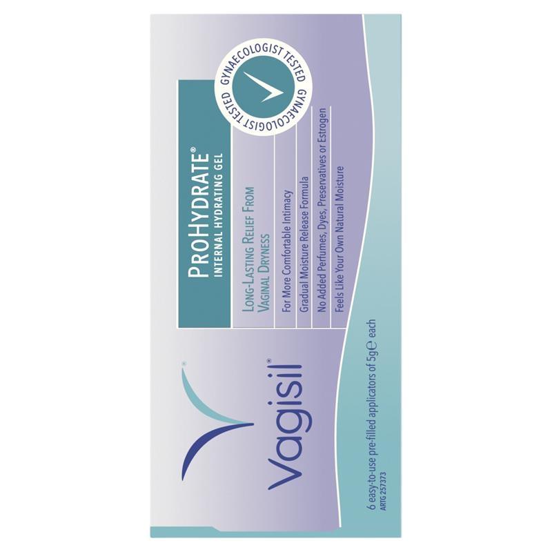 Gel dưỡng ẩm bên trong Vagisil ProHydrate Internal Hydrating Gel 6 x 5g