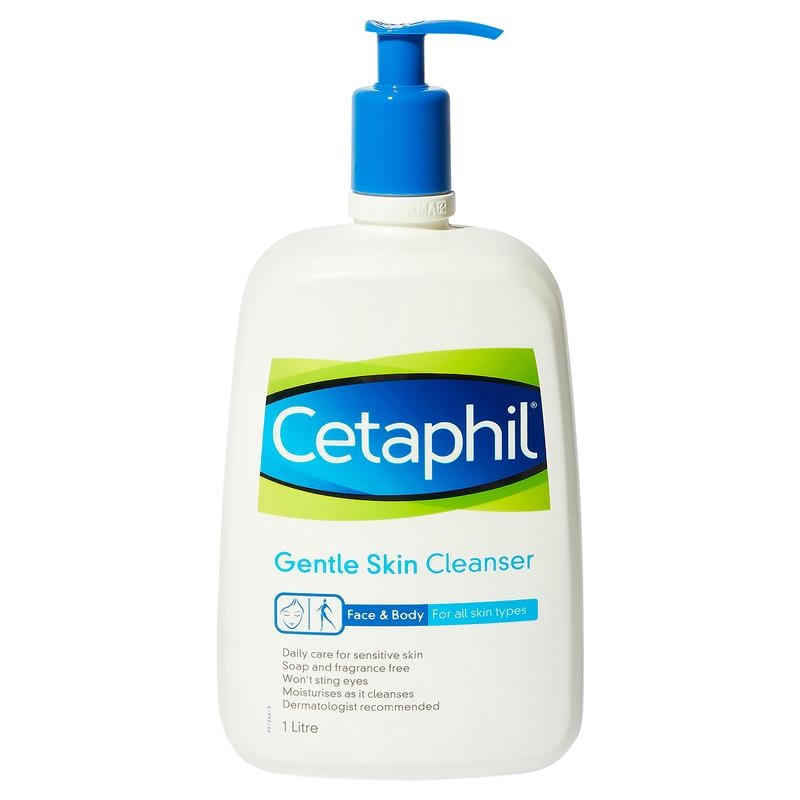 Cetaphil Gentle Skin Cleanser for Face & Body 1 Litre