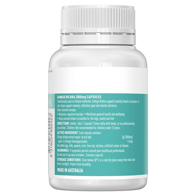 Bổ não - Healthy Care Ginkgo Biloba 2000 100 Capsules