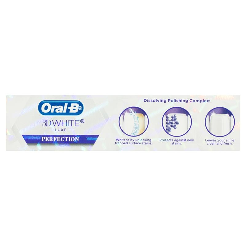 Kem đánh răng Oral B 3D White Luxe Perfection Toothpaste 95g