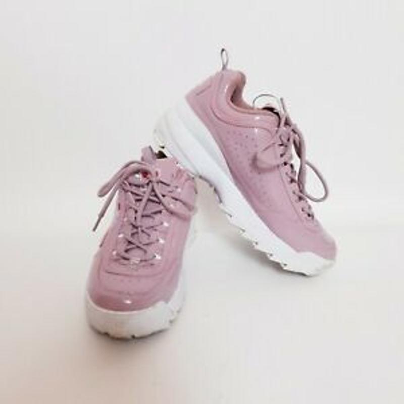 Giày chạy bộ Fila Womens US 9 Disruptor 2 Pink Chunky Platform Runner Shoes Sneakers 5FM00047