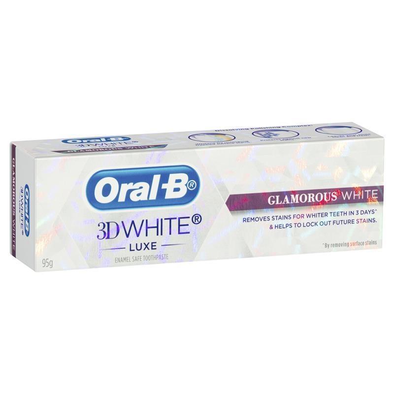 Kem đánh răng Oral B 3D White Luxe Glamorous White Toothpaste 95g