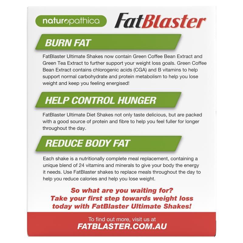 Sữa lắc hỗ trợ giảm cân - Naturopathica FatBlaster Ultimate Chocolate Shake 21 x 33g Sachets Exclusive Size