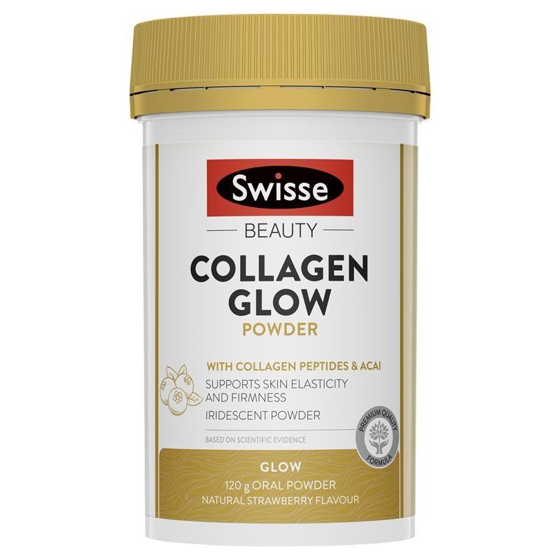 Bột uống bổ sung collagen Swisse Beauty Collagen Glow Powder 120g