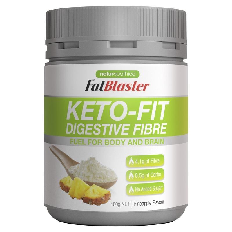 Bột giảm cân Naturopathica Fatblaster Keto Fit Fibre 100g