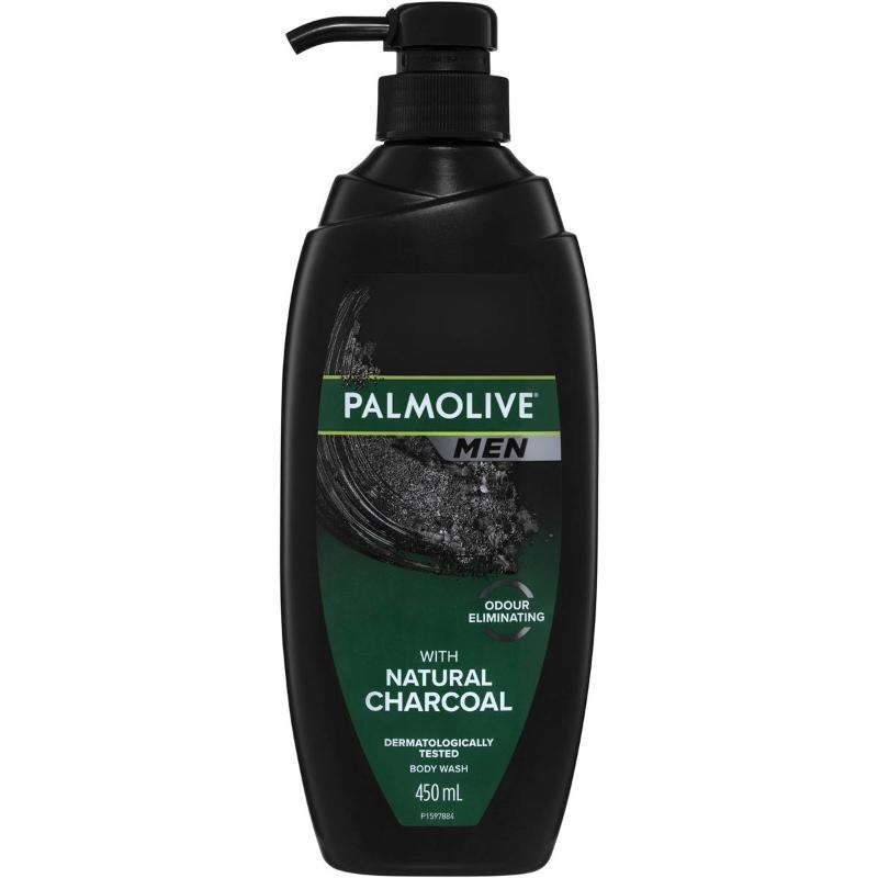 Sữa tắm nam Palmolive Men Body Wash Natural Charcoal Shower Gel 450ml