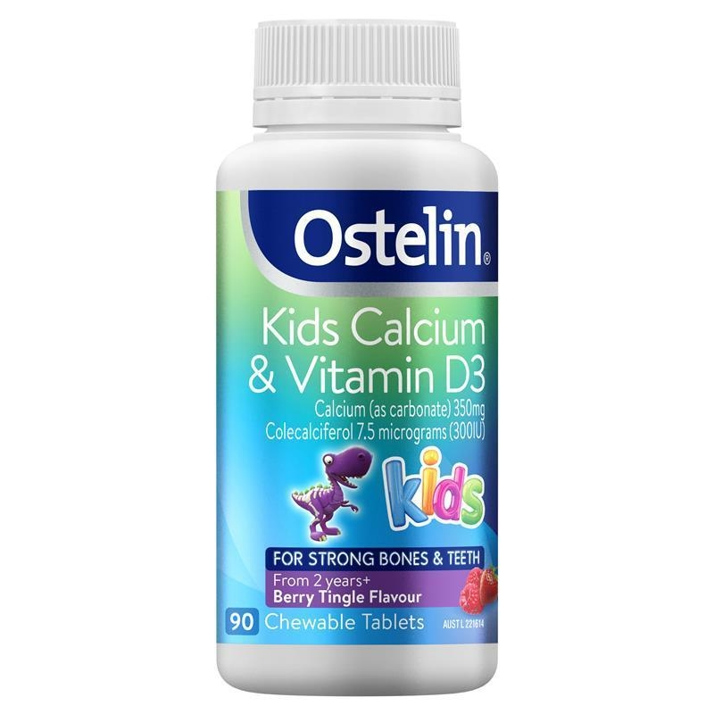 Ostelin Kids Calcium & Vitamin D3 90 Chewable Tablets