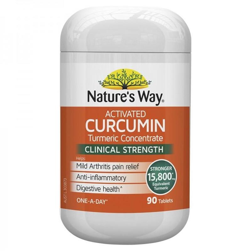 Viên uống tinh bột nghệ Nature's Way Activated Curcumin 90 Tablets