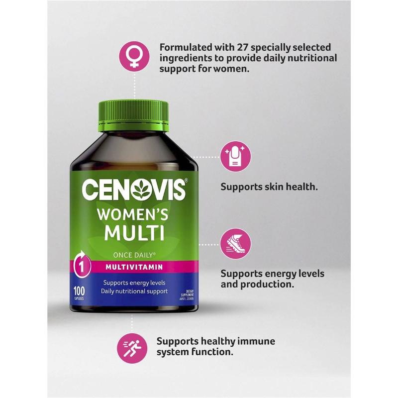 Cenovis Once Daily Women's Multi Capsules 100 pack