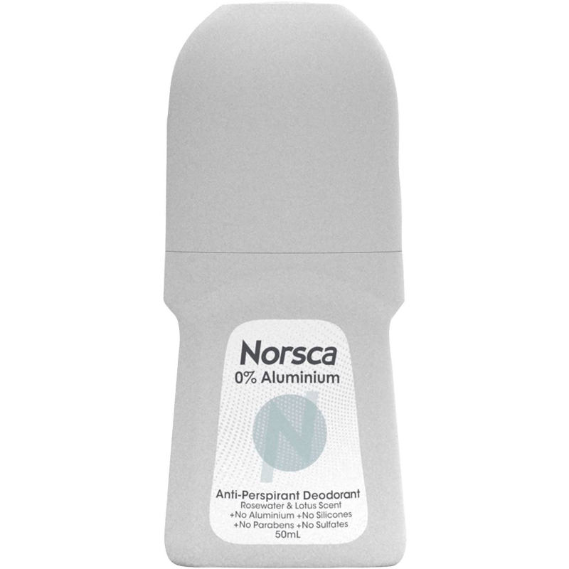 Norsca 0% Aluminium Antiperspirant Rosewater & Lotus Roll-on 50ml