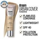 Maybelline Dream Urban Cover Liquid Foundation - Sun Beige 30ml