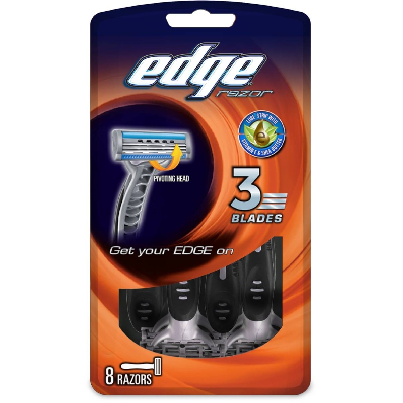 Edge Mens 3 Blade Disposable 8 pack