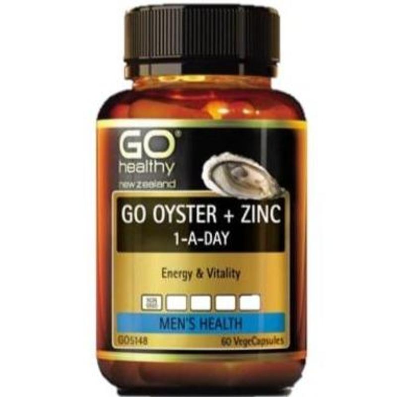 Tinh chất hàu GO Healthy Oyster Plus Zinc 1-A-Day 60 Vege Capsules