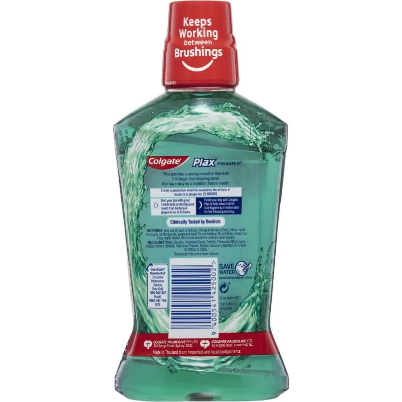 Colgate Plax Alcohol Free Freshmint Mouthwash 500ml