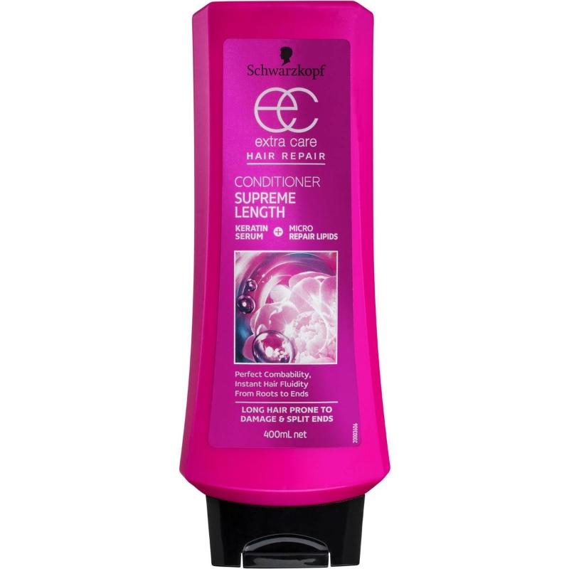 Dầu xả phục hồi tóc hư tổn - Schwarzkopf Extra Care Conditionner Supreme Length 400ml