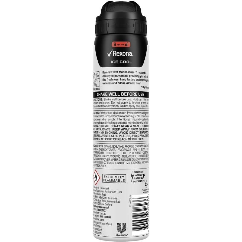 Rexona Men Antiperspirant Deodorant Spray Ice Cool 250ml