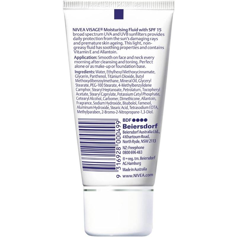 Nivea Moisturising Day Face Cream Fluid Spf15 50ml