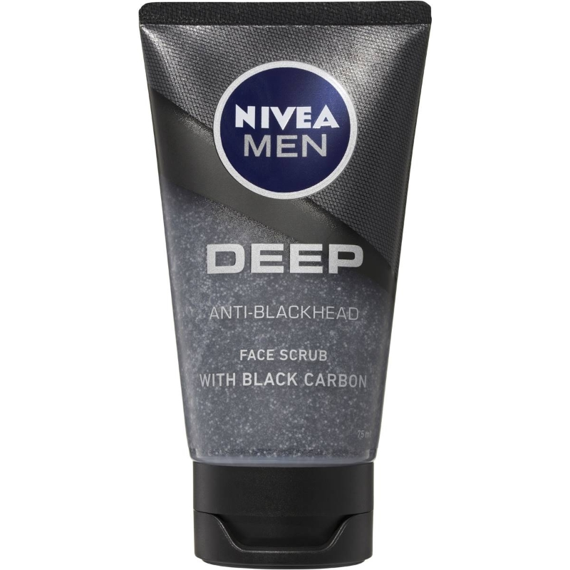 Nivea Men Deep Anti-blackhead Face Wash Scrub With Black Carbon 75ml