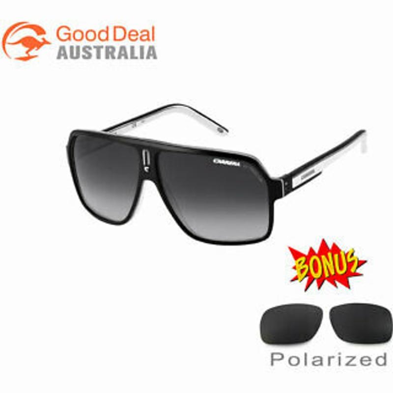 Kính mát - NEW Carrera 27 XSZ9O Black White UV Protection Sport Racing Designer Sunglasses