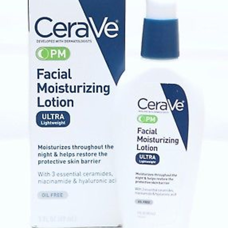 New CeraVe PM Facial Moisturizing Lotion 89ml (Dermatologist Recommended)