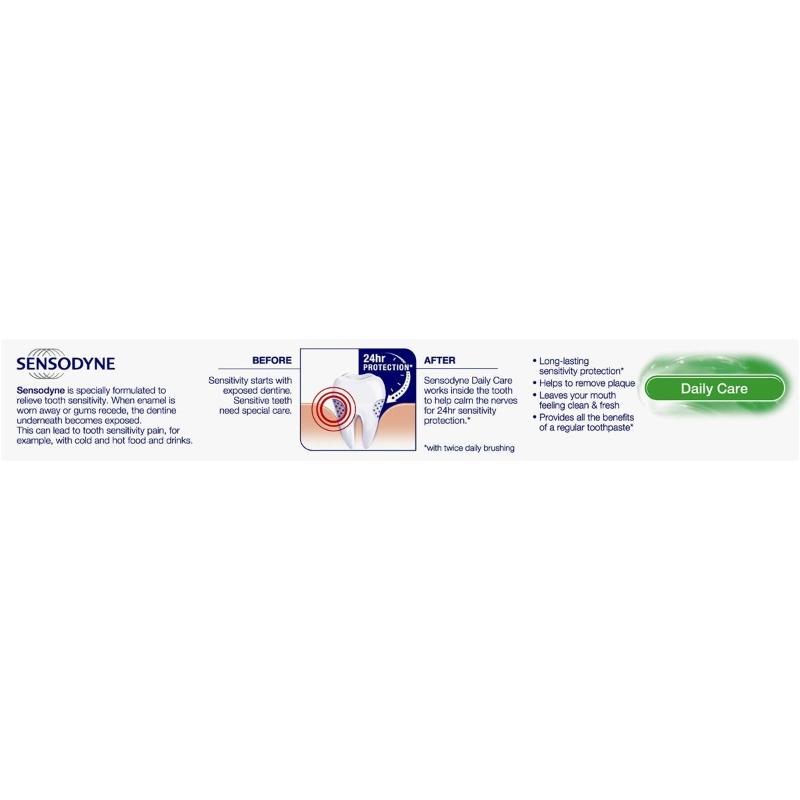 Kem đánh răng Sensodyne Toothpaste Sensitive Teeth Daily Care Extra Fresh 110g