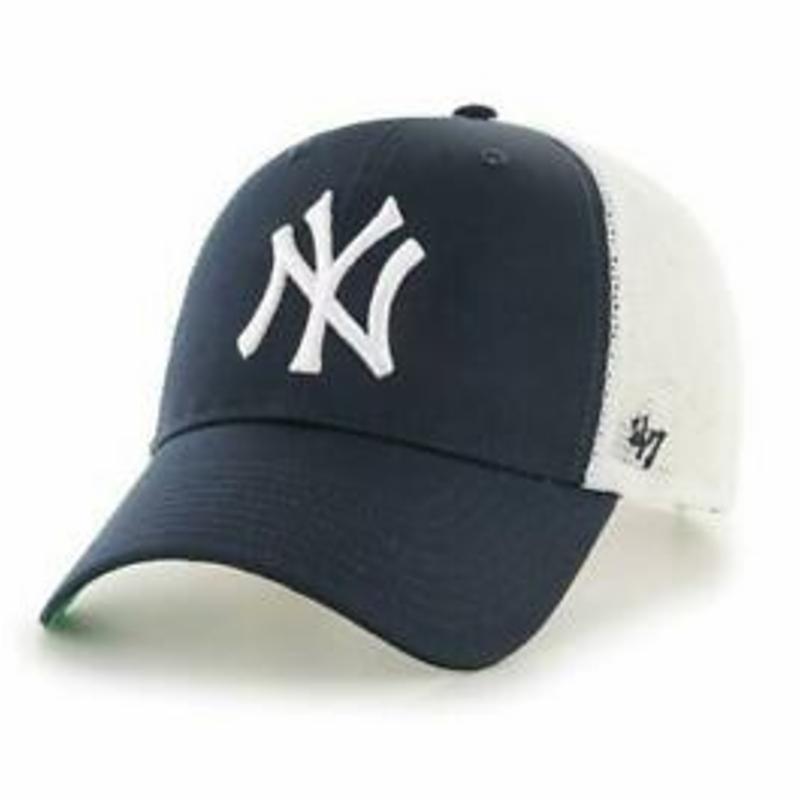 NY Yankees Hat - New York MLB Snapback Trucker Cap From 47 Brand Baseball