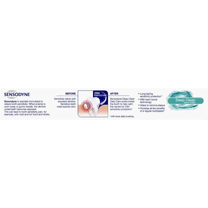 Kem đánh răng Sensodyne Toothpaste Sensitive Teeth Pain Deep Clean 110g