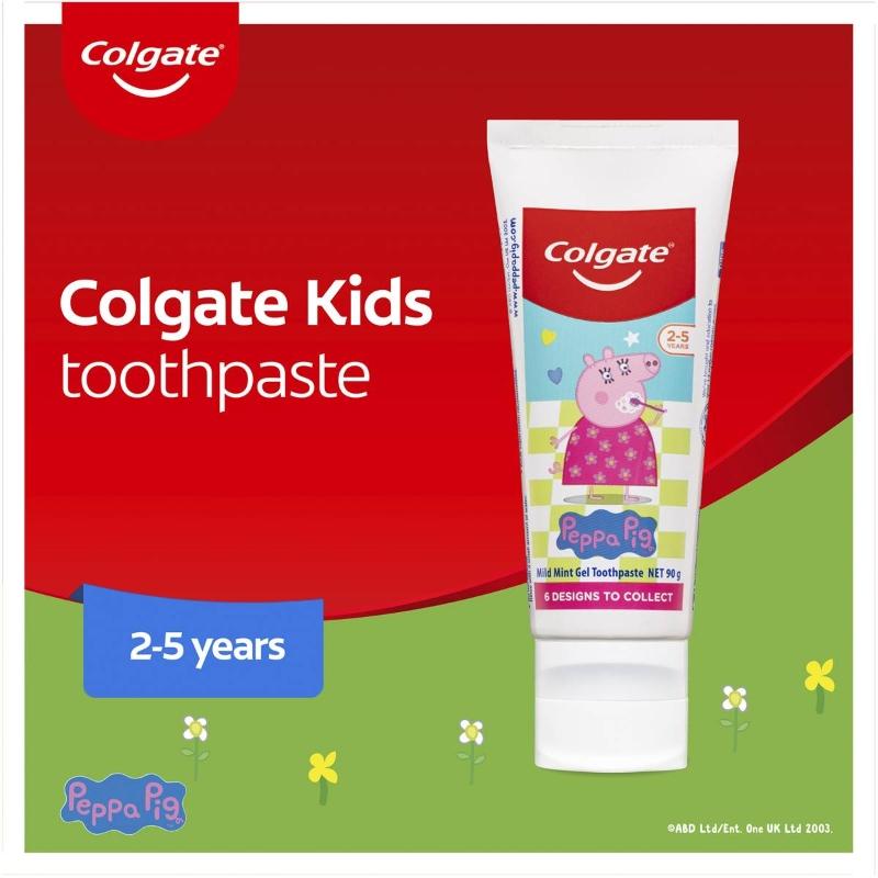 Kem đánh răng cho bé từ 2-5 tuổi - Colgate Peppa Pig 2-5 Years Kids Toothpaste 90g