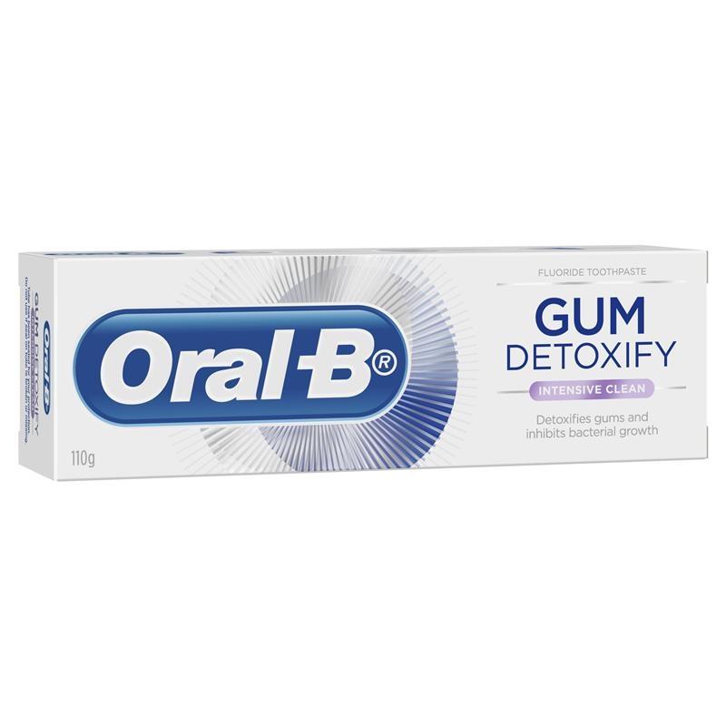 Kem đánh răng Oral B Gum Detoxify Intensive Clean Toothpaste 110g